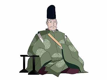 【画像の説明】 清少納言の父清原元輔の直衣姿。烏帽子をかぶり、檜扇を... 枕草子で知る有職故実